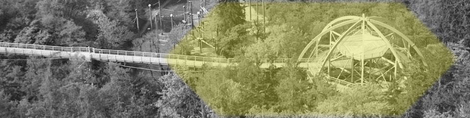 Baumwipfelpfad Entwurf, Modell | Hochkant - Erlebnispfad Konzeption, Wartung