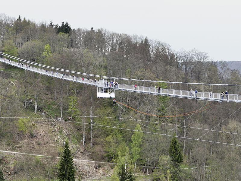 Hängebrücke Rappbodetalsperre