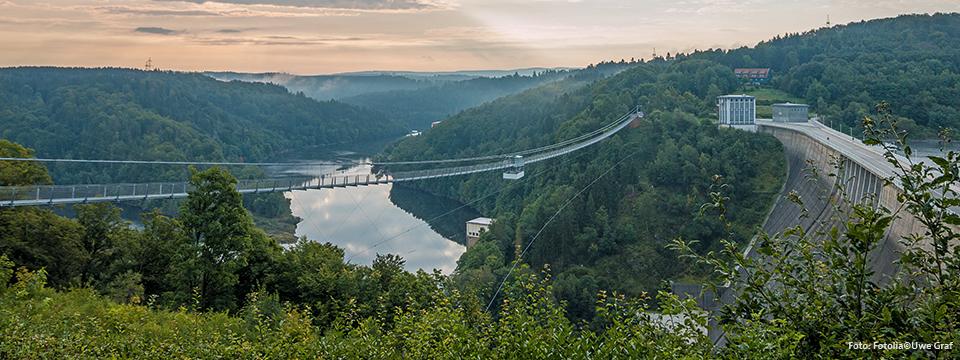 Fußgänger-Hängebrücke Rappbodetalsperre